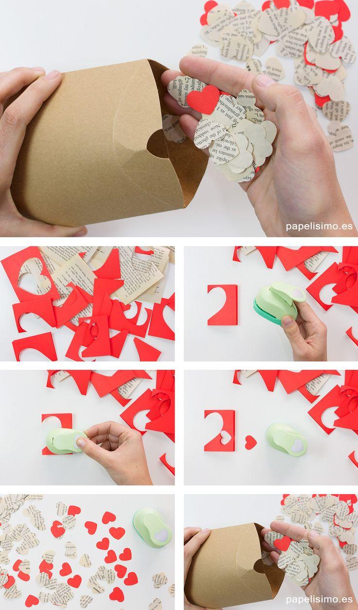 Confeti-de-corazones-de-papel-para-envolver-regalos-originales