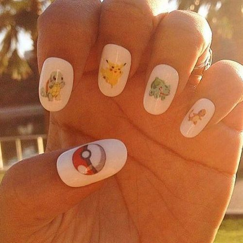 32 Best Pokémon GO Inspired Nails - Gotta Catch 'Em All! We found the VERY BEST Pokémon Nails in light of the Pokémon GO Craze! Pika Pika