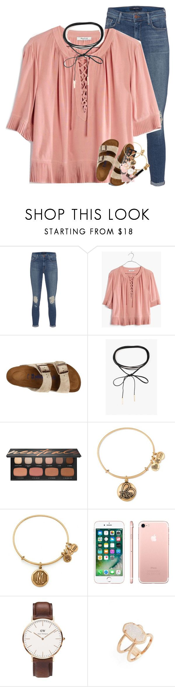 """""""When you treat me like that"""" by summerdreaming7 ❤ liked on Polyvore featuring J Brand, Madewell, Birkenstock, Azalea, Bare Escentuals, Alex and Ani, Apple, Daniel Wellington and Kendra Scott"""