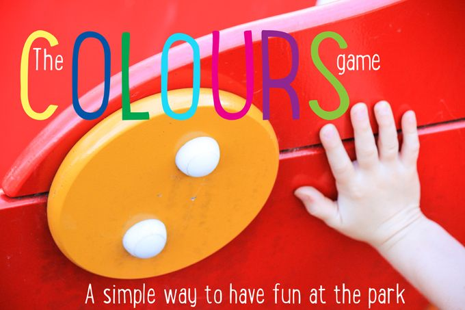 Play the colours game at the park