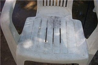 This is my 8th year to use 5 chairs and a table which are of white resin.  Year by year, they had gotten more and more discolored and mottled.  I tried steel wool, various cleaners and cleansers bu…