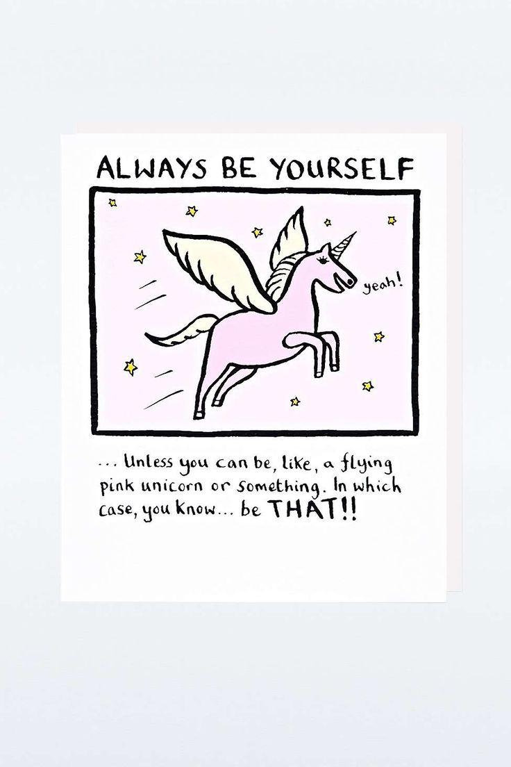 Carte « Always Be Yourself »