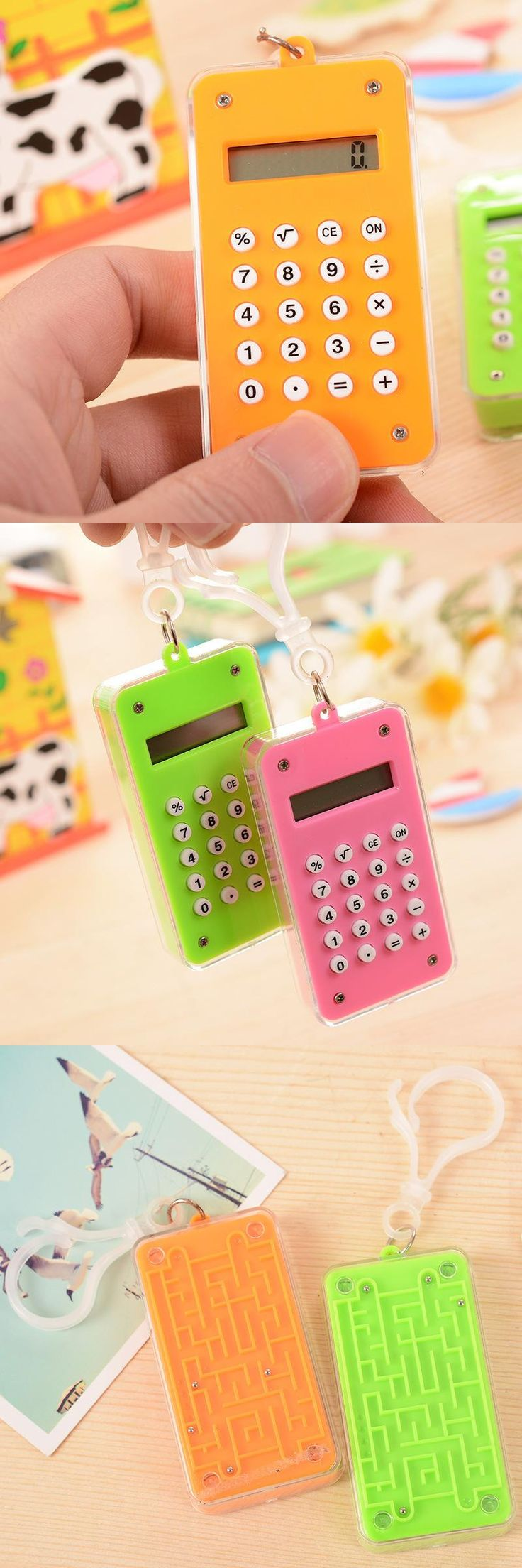 [Visit to Buy] FXSUM Colorful Mini Calculator Creative 8 Digits Calculadora Plastic Maze Kids Toy Student Gift #Advertisement