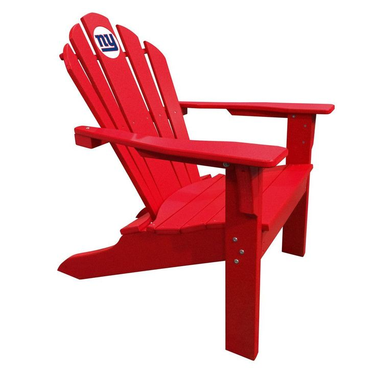 New York Giants Big Daddy Red Composite Adirondack Deck Chair