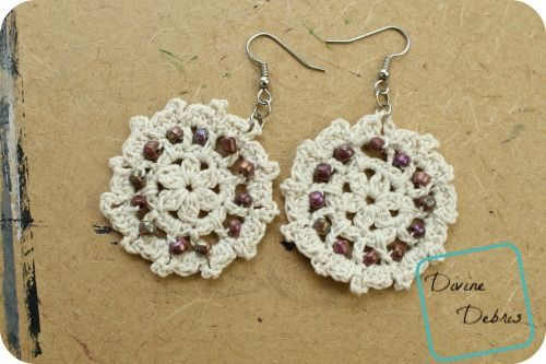Crochet+Carrie+Earrings,+PATTERN+FOUND+HERE:+Crochet+Carrie+Earrings+|