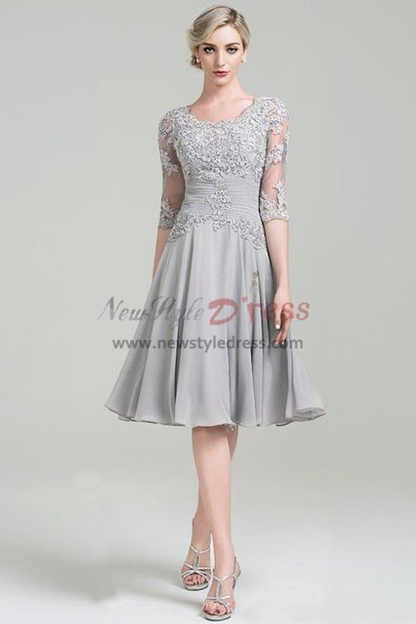 9b33759387 2019 的 Modern Draped Grey Lace Mother Of The Bride Dress Free ...