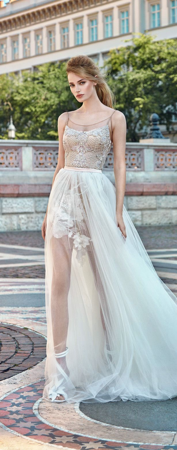 Swishy transparent skirt  Galia Lahav Fall 2016: Gala Ready-to-Wear Collection No.1