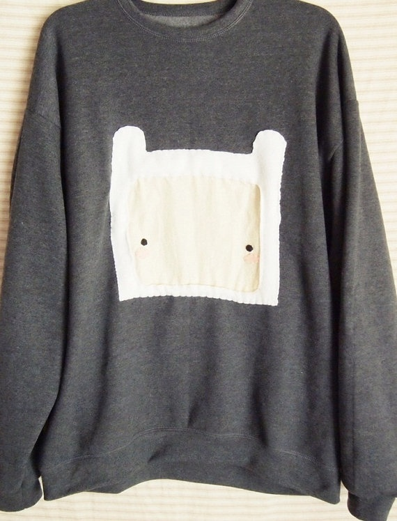 Adventure Time Inspired Finn the Human Sweater by sangeoshop, $25.00