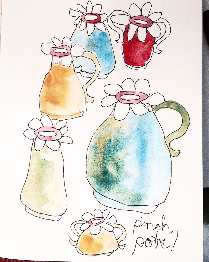 Meg Leslie creates beautiful porcelain vases. Here's some sketches. MUDD.ca