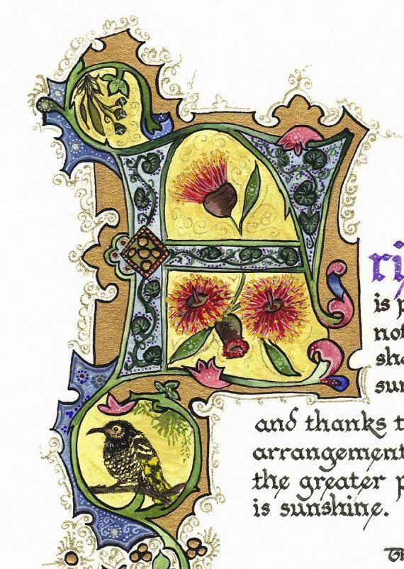 Friendship - Limited Edition Illuminated Calligraphy Artist Print