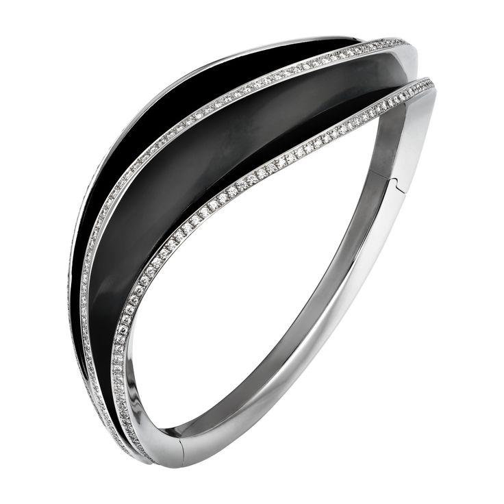Cartier Paris Nouvelle Vague bracelet - white gold, black lacquer, diamonds (=)