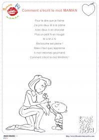 23 poésies illustrées sur le thème de la fête des mères, pour les élèves de cycle 1, cycle 2 et de cycle 3.