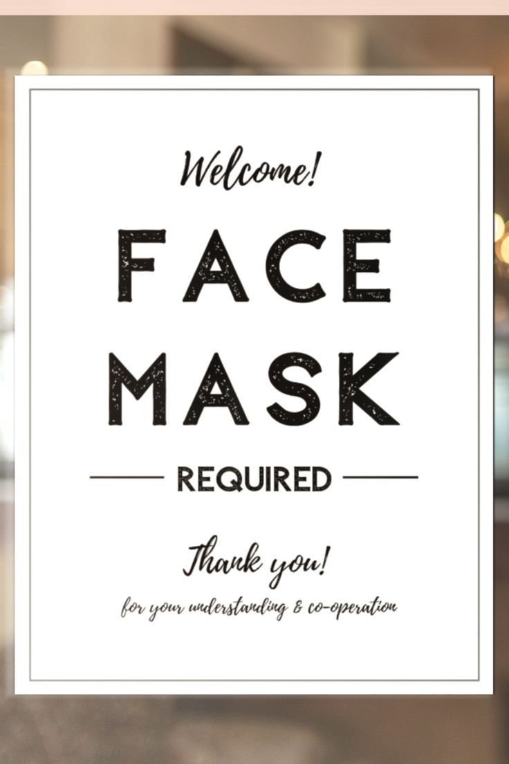 mask wear required masks signs printable notice template must social distancing worn shops