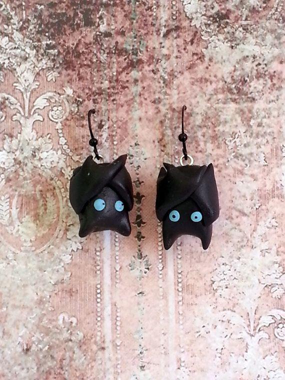 Kawaii Gothy Bat Earrings  OOAK by LoveCraftAndCo on Etsy, $7.00