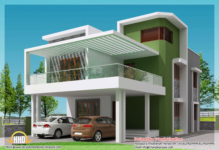 Simple Modern Home Square Feet Bedroom Contemporary Kerala Villa - simple house designs