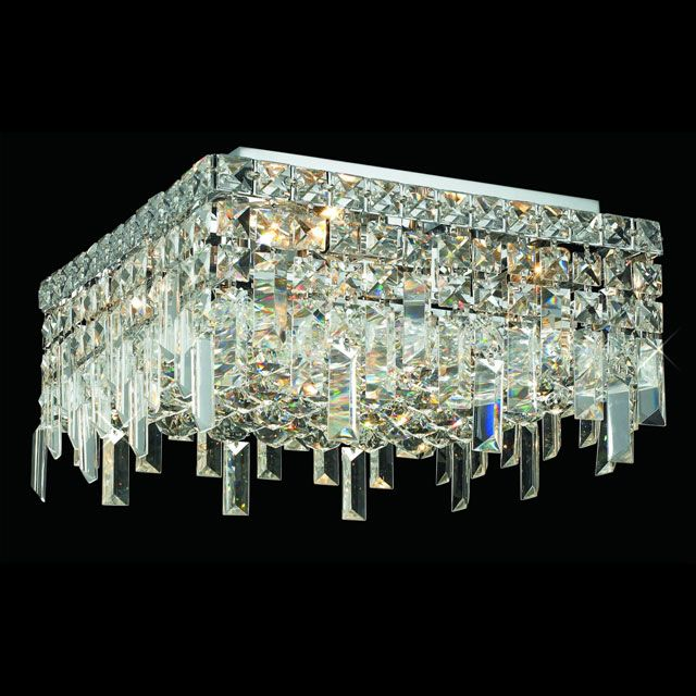 Crystal Vanity Lighting Maxim And Mini Collections With Chrome