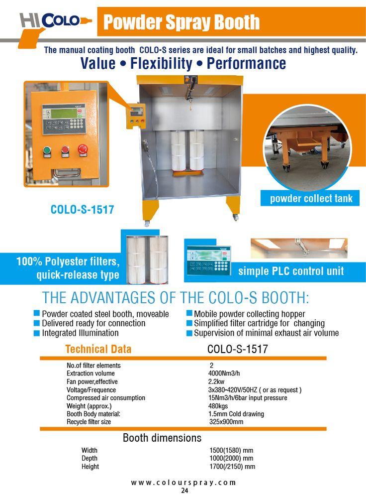 Homemade powder coating booth professinal powder coating