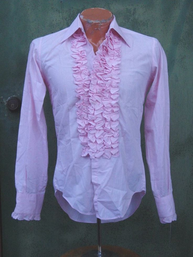 1000 images about 1975 prom men on pinterest mint green for Red ruffled tuxedo shirt
