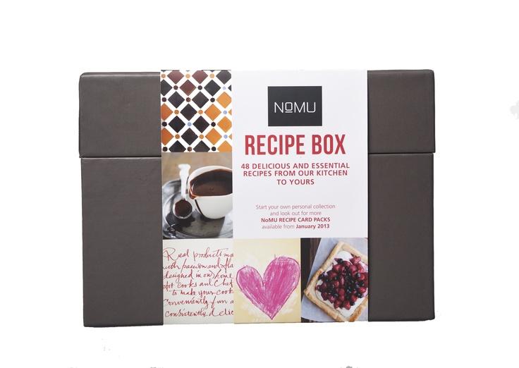The NoMU Recipe Box - designed by brandtree.co.za