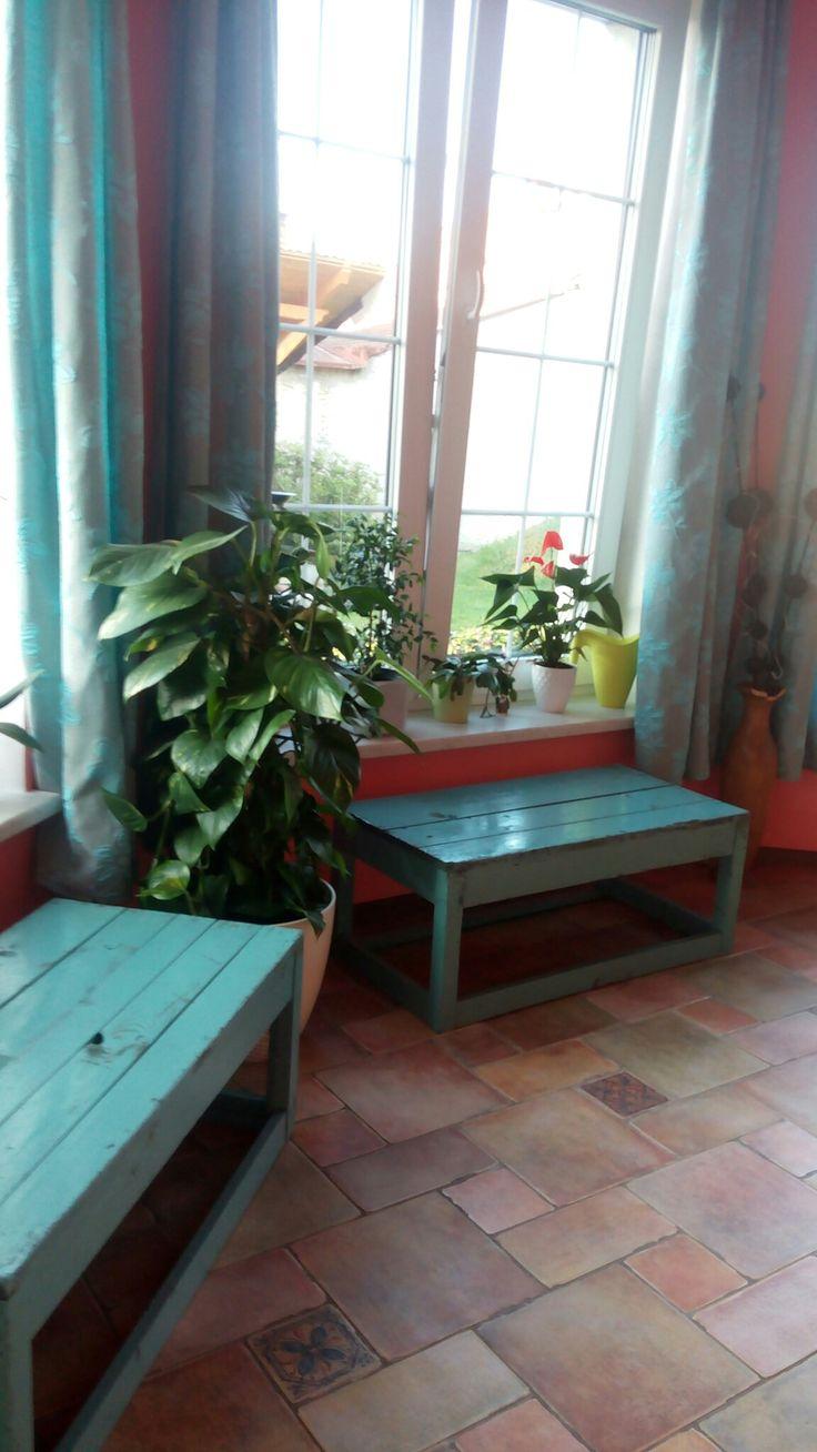 Nová lavička do zimní zahrady