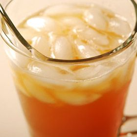 Iced Ginger Tea, from ATCO Blue Flame Kitchen's Let the Flames Begin 2002 cookbook.