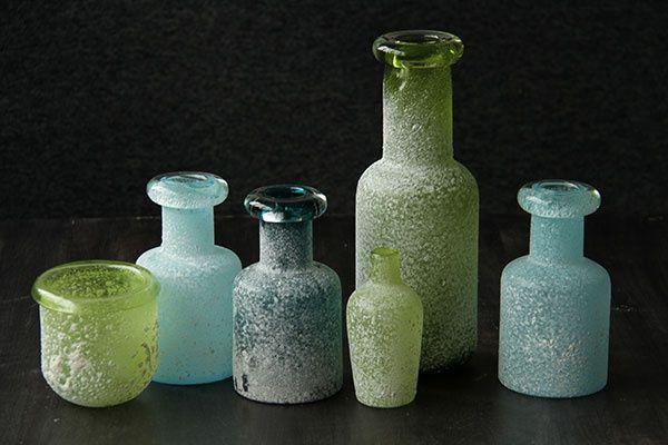 Daydream, Rome Sand glass. Gekleurde flesjes en potjes van glas. Woonaccessoires. Home deco.