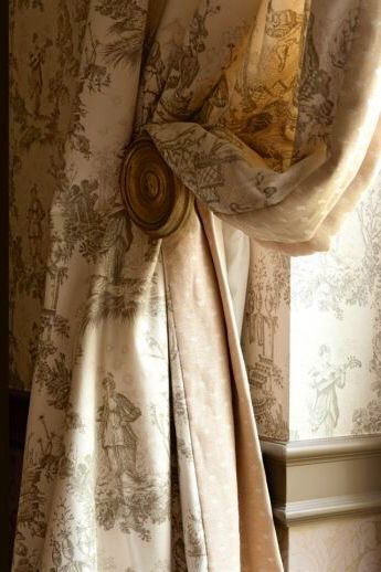 """""""Consider toile if you want pattern that doesn't crowd the room. """" Tanna, DesignNashville"""