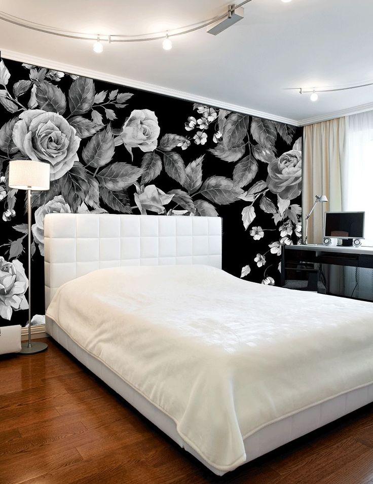 Czarno-biała fototapeta z różą do sypialni  http://ecoformat.com.pl/fototapety-z-kwiatami-roza-w-roli-glownej/