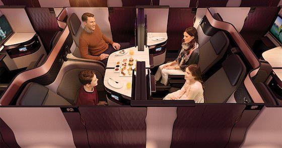 Qatar QSuite Debut | Flat Beds #qatarairways #qatar #businessclass #qsuite