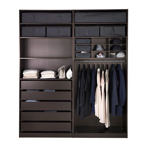 500 500 walk in closet ideas pinterest wardrobe - Armoire ikea pax ...