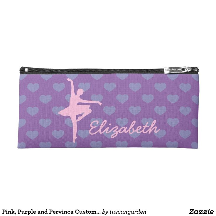 Pink, Purple and Pervinca Custom Ballerina Pencil Case
