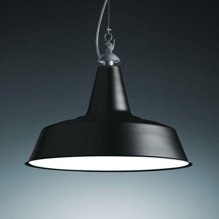 Huna (lighting): Suspension Lamp. Structure In Metal Painted Aluminium  Color, Black Great Ideas