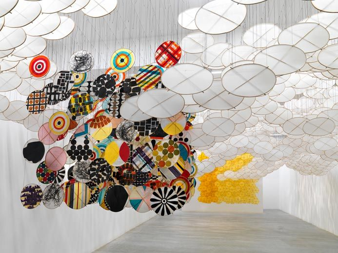 Jacob Hashimoto: The Other Sun at Ronchini Gallery