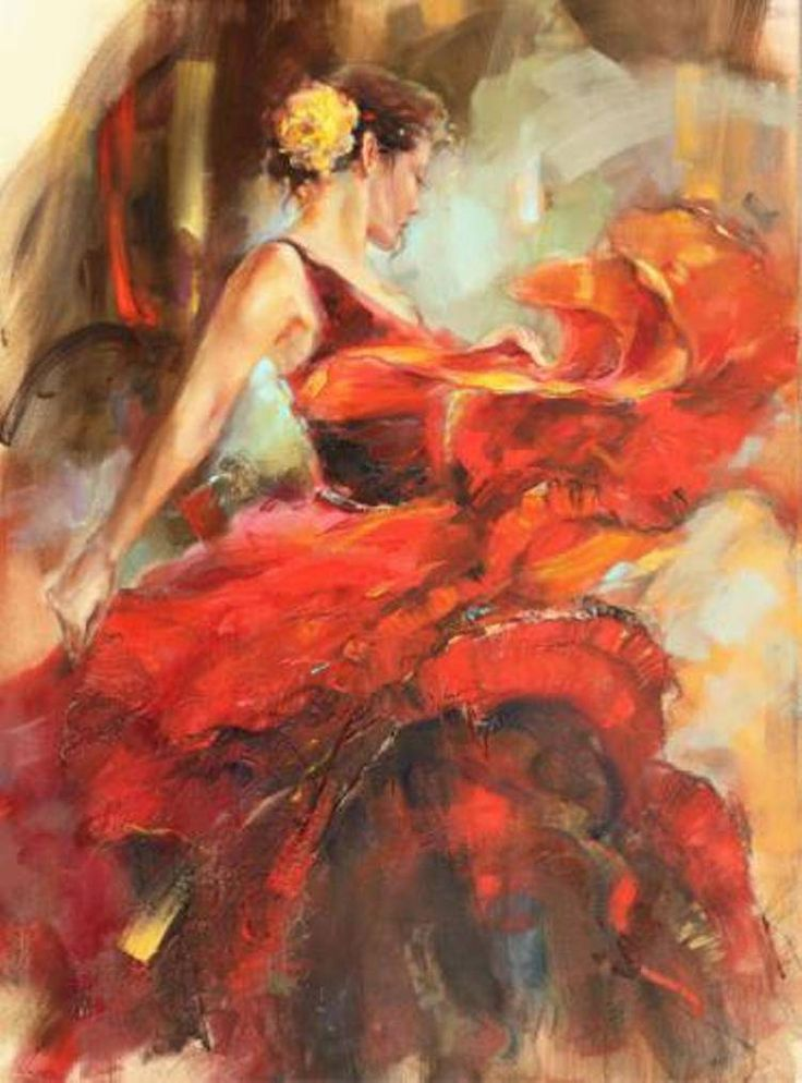 Spanish Dancer. Dark and sultry reds