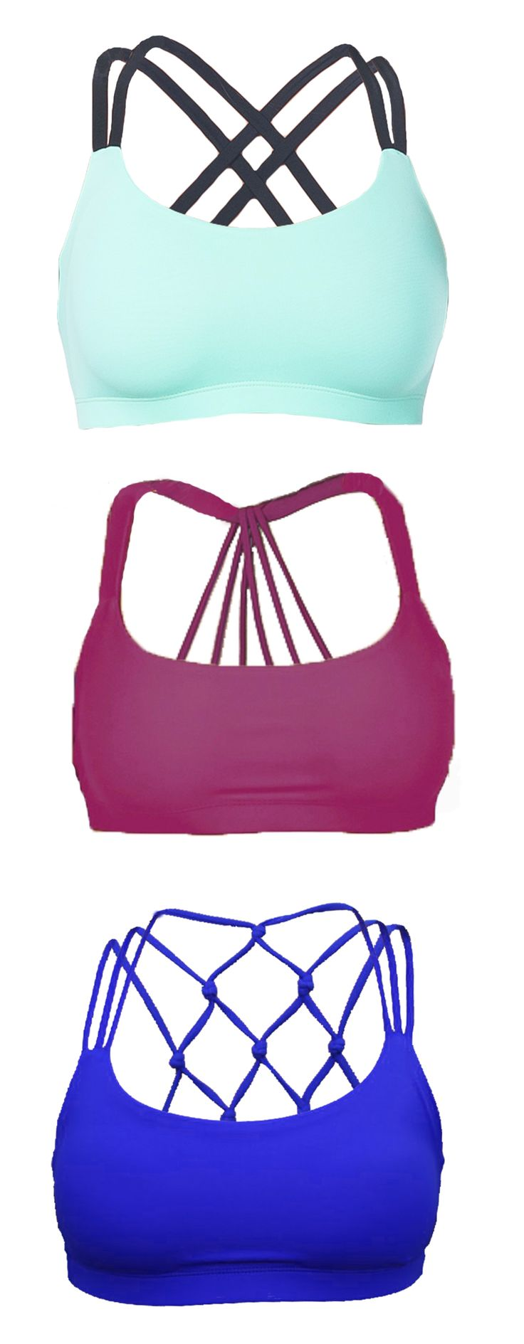 These sports bras are soo cute!