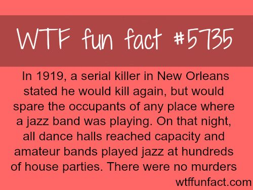 How New Orleans stopped a serial killer from committing another murder - WTF fun facts
