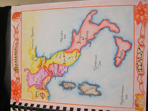 572 best geography images on pinterest cards maps and teaching waldorf 7th grade renaissance and reformation map of renaissance italy gumiabroncs Image collections