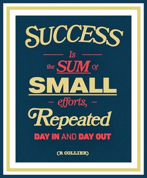 Image result for success is found in the small