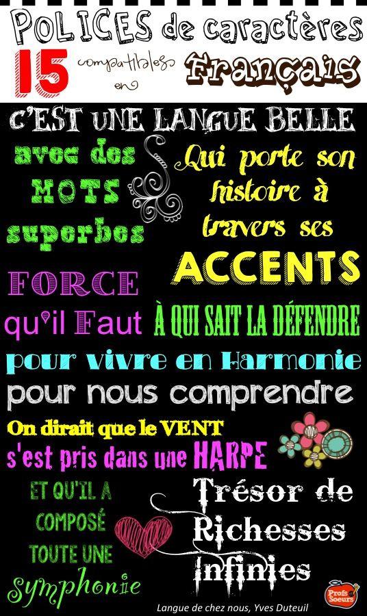 Polices de caractères pour écrire les accents et les cédilles en français! French FONTS