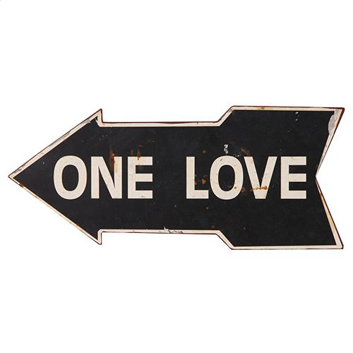 One love vintage plaque