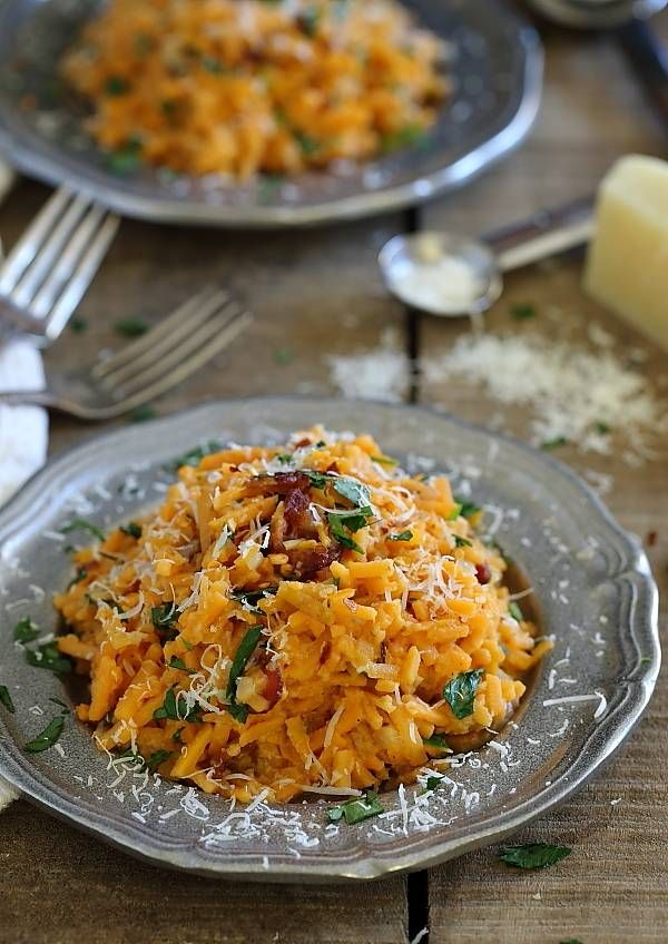 Sweet potato carbonara  - if you can't have eggs I think this would still taste amazing without them.