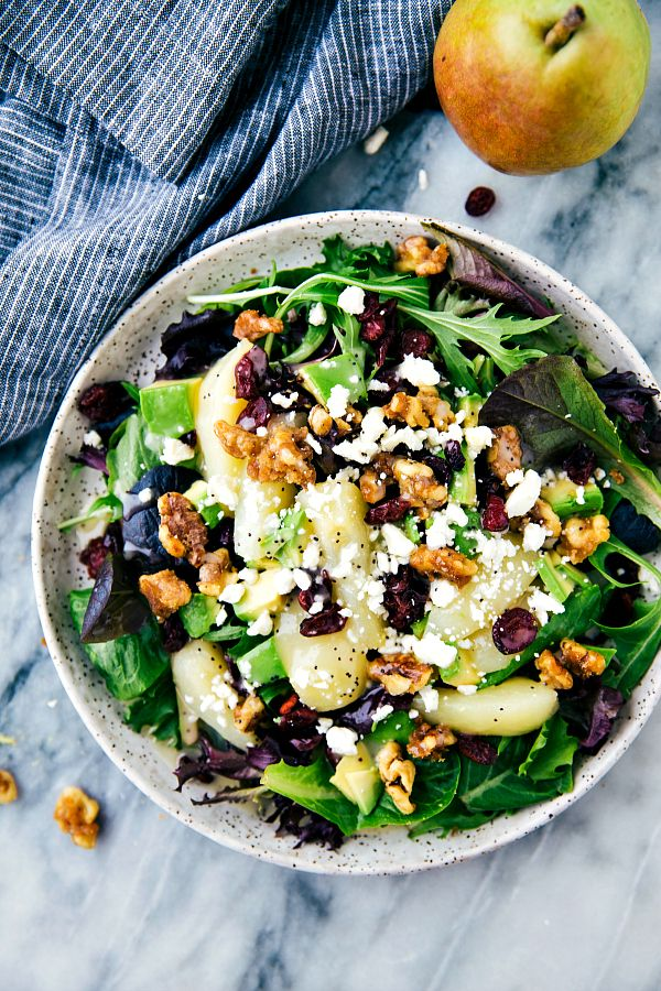 A delicious and simple tosalad with fresh sliced pears, avocado, cranberries and feta cheese. Drizzled with a lemon poppyseed dressing this salad is mouthwatering and full of flavor! Hey everyone! Chelsea from Chelsea's Messy Apron back with a delicious and easy salad for you all to try. 🙂 I've recently discovered just how delicious canned …