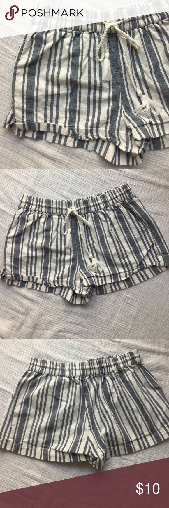 H&M Nautical Shorts Blue and white striped shorts H&M Shorts