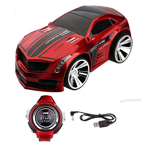 Rock-Crystal788®New Style Christmas Gift Rechargeable Voice Control Car Voice Command by Smart Watch Creative Voice-activated Remote Control RC Car for Children(Dark Red) ** Click on the image for additional details.