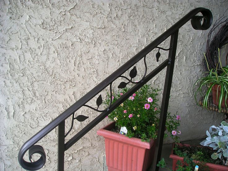 11 best images about stair railings on pinterest railing - Exterior wrought iron handrails for steps ...