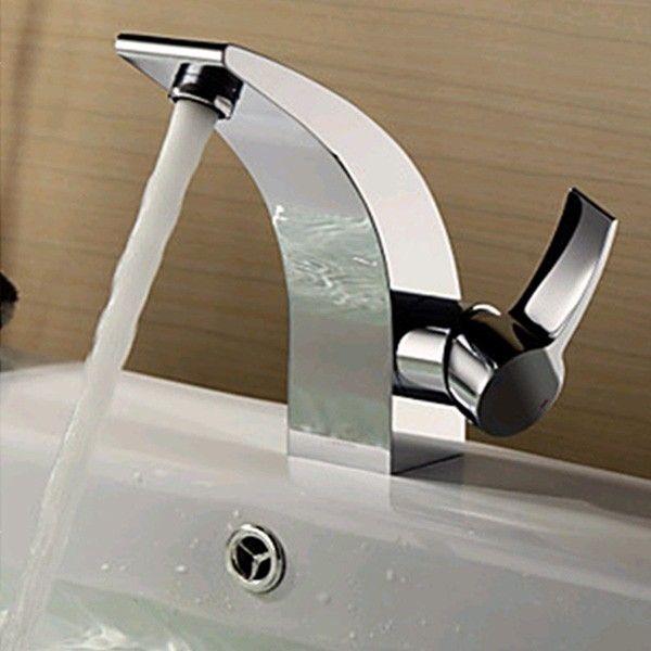 Kitchen Hot Cold Mixer Water Tap Basin Sink Bathroom Bath Chrome Brass  Faucet