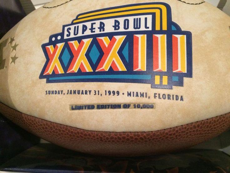 Football Super Bowl XXXIII Limited Ed. Commemorative Classic Super Bowl Matchups #NFL