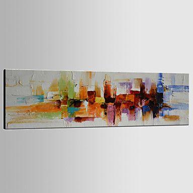 Peint à la main Abstrait Panoramique Horizontale,Classique Moderne Traditionnel Un Panneau Toile Peinture à l'huile Hang-peint For
