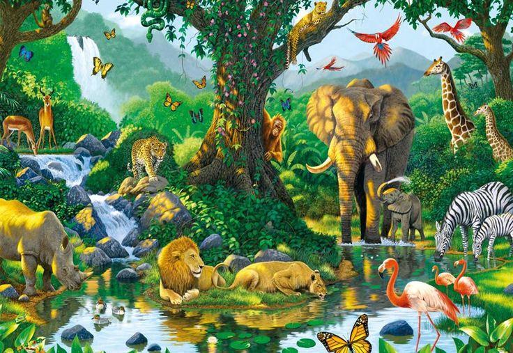 Puslespil med eksotiske dyr | 500 brikker