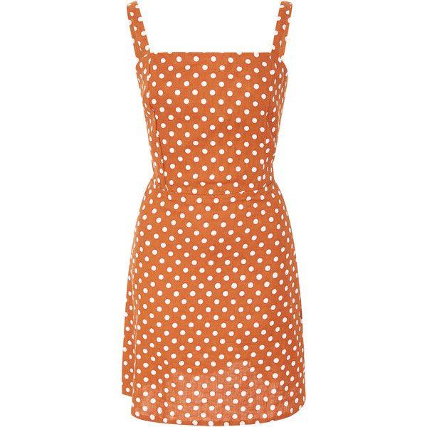 Faithfull Stepper Mini Dress ($190) ❤ liked on Polyvore featuring dresses, sleeveless dress, short red dress, faithfull, mini dress and red mini dress